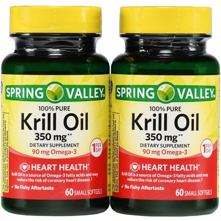 Spring valley krill oil softgels 350 mg 60 ct 2 pk for Spring valley fish oil review