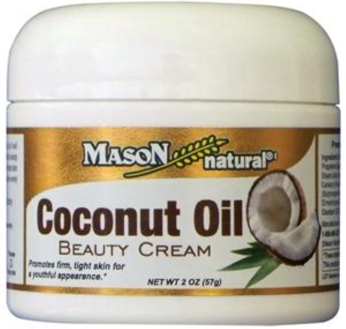 Mason Natural Coconut Oil Beauty Cream 2 oz (Pack of 2)