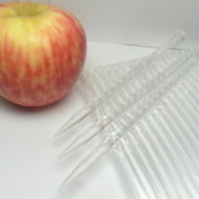 40pcs 6 in CLEAR Pointed Acrylic Sticks For Cake Pops or Candy Apple - Heavy duty