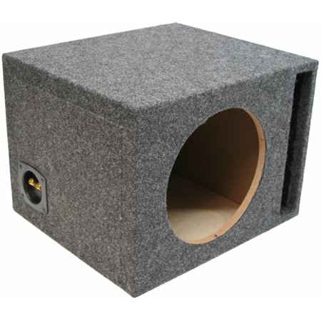 Car Stereo Single 12 Ported 3/4 MDF Subwoofer Enclosure Speaker Bass Sub Box (Single 12 Ported Bass Box)