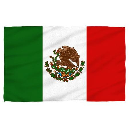 Mexico Flag Beach Towel White 36x58