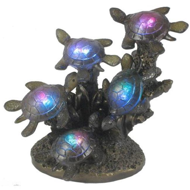 Standard Specialty 1708 New Gorgeous Five Led Glass, Turtles Table Lamp