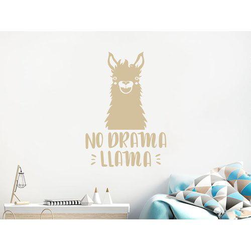 Harriet Bee No Drama Llama Quote Nursery Wall Decal