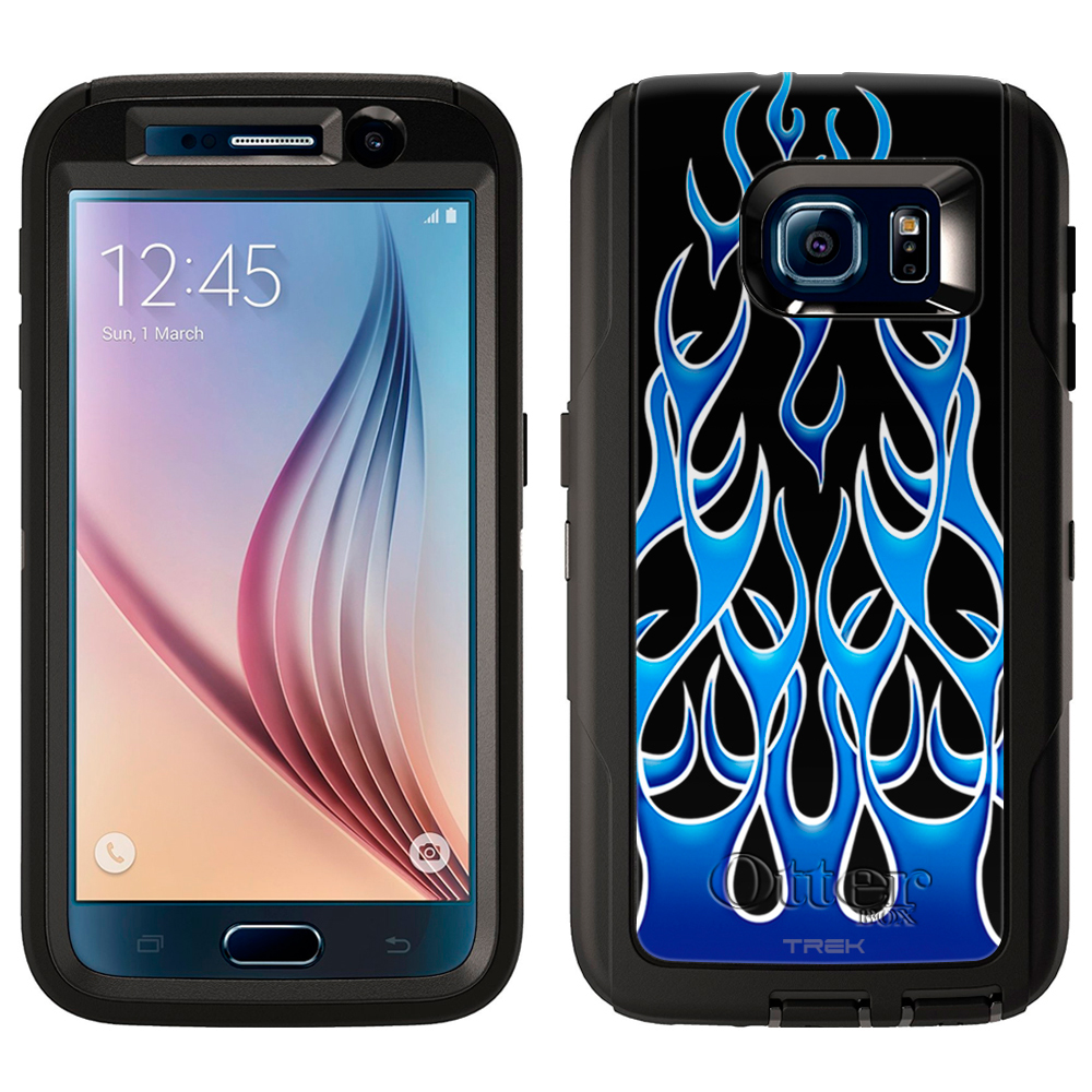 OtterBox Defender Samsung Galaxy S6 Case - Blue Flames on...