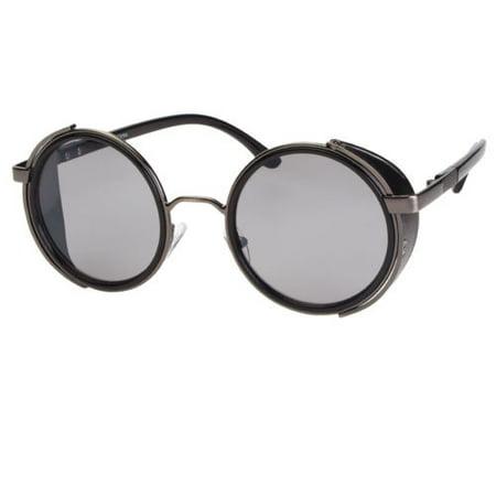 bfdc62f7523d Sunny Shades - Vintage Retro Mirror Round SUN Glasses Goggles Steampunk  Punk Sunglasses - Walmart.com