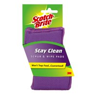 Scotch-Brite Stay Clean Scrub Sponge, 2 Count