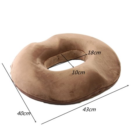 16 X17 Memory Foam Ring Donut Seat Cushion Office Chair