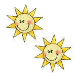 Expo Int'l BaZooples Iron-on Patch Applique Smiling Sun Pack of 2