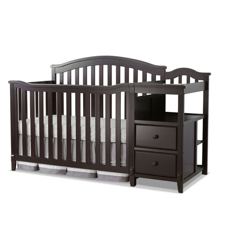 Sorelle Berkley 4-in-1 Convertible Crib and Changer, Espresso