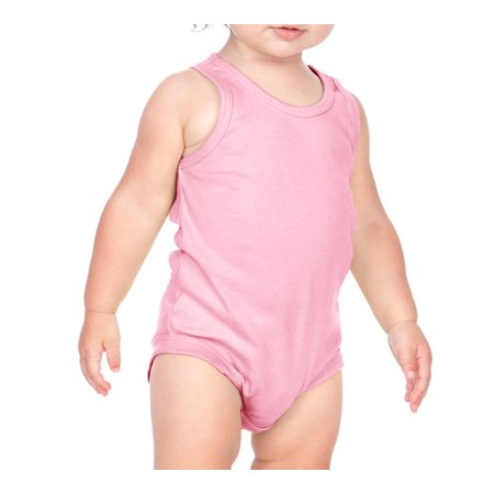 Kavio I1C0564 Infants Scoop Neck Tank Onesie-Baby Pink-24M