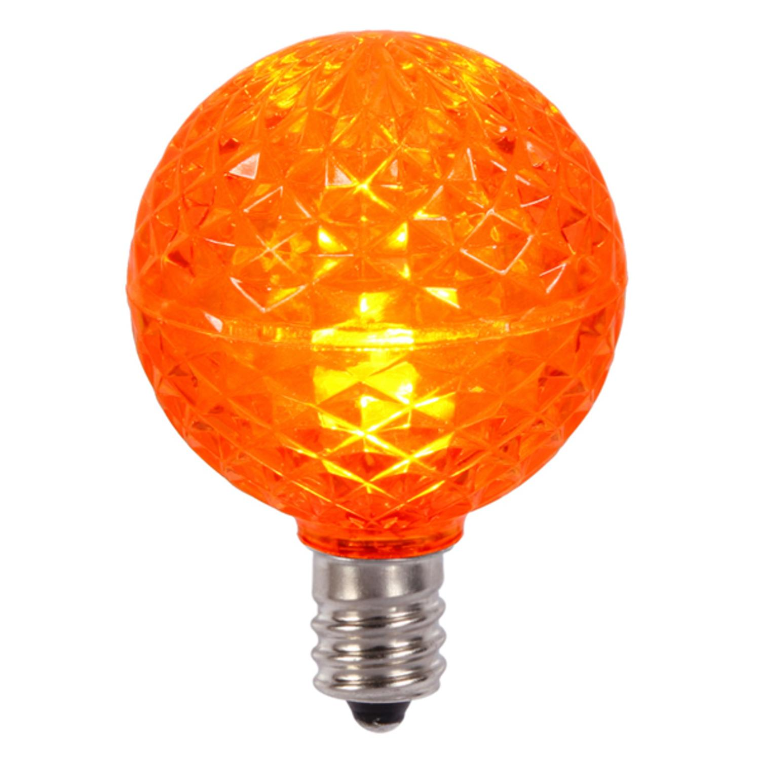Club Pack of 25 Orange LED G40 Christmas Replacement Bulbs