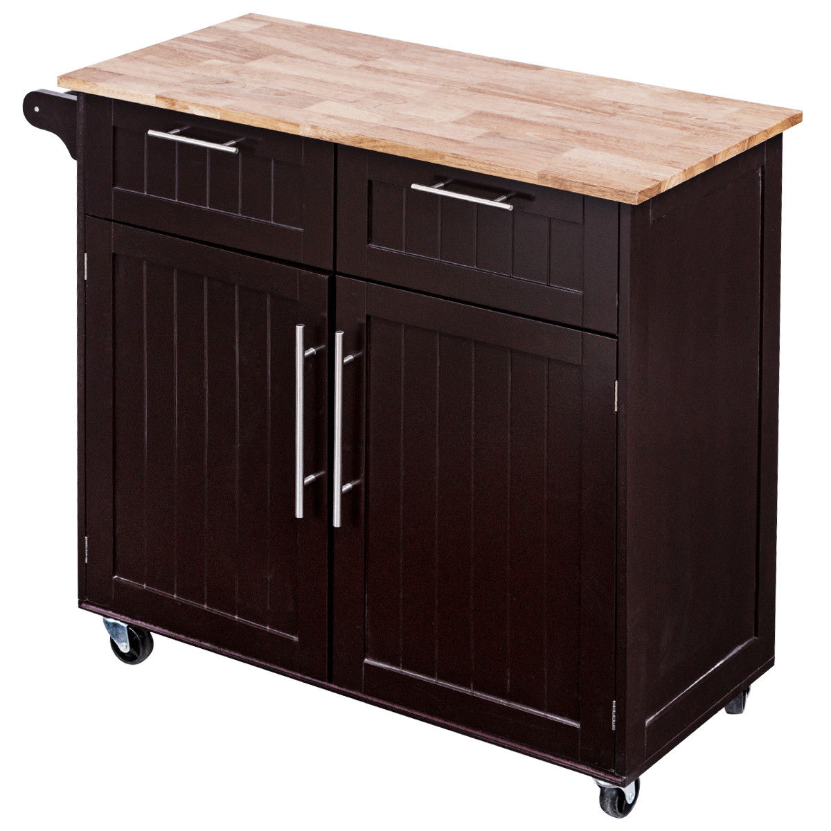Kitchen Cart With Cabinet: Costway Rolling Kitchen Cart Island Heavy Duty Storage