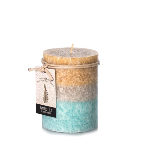 Dynamic Collections Water Lily Pillar Candle: 3x4 in Calla Lily Pillar Candle