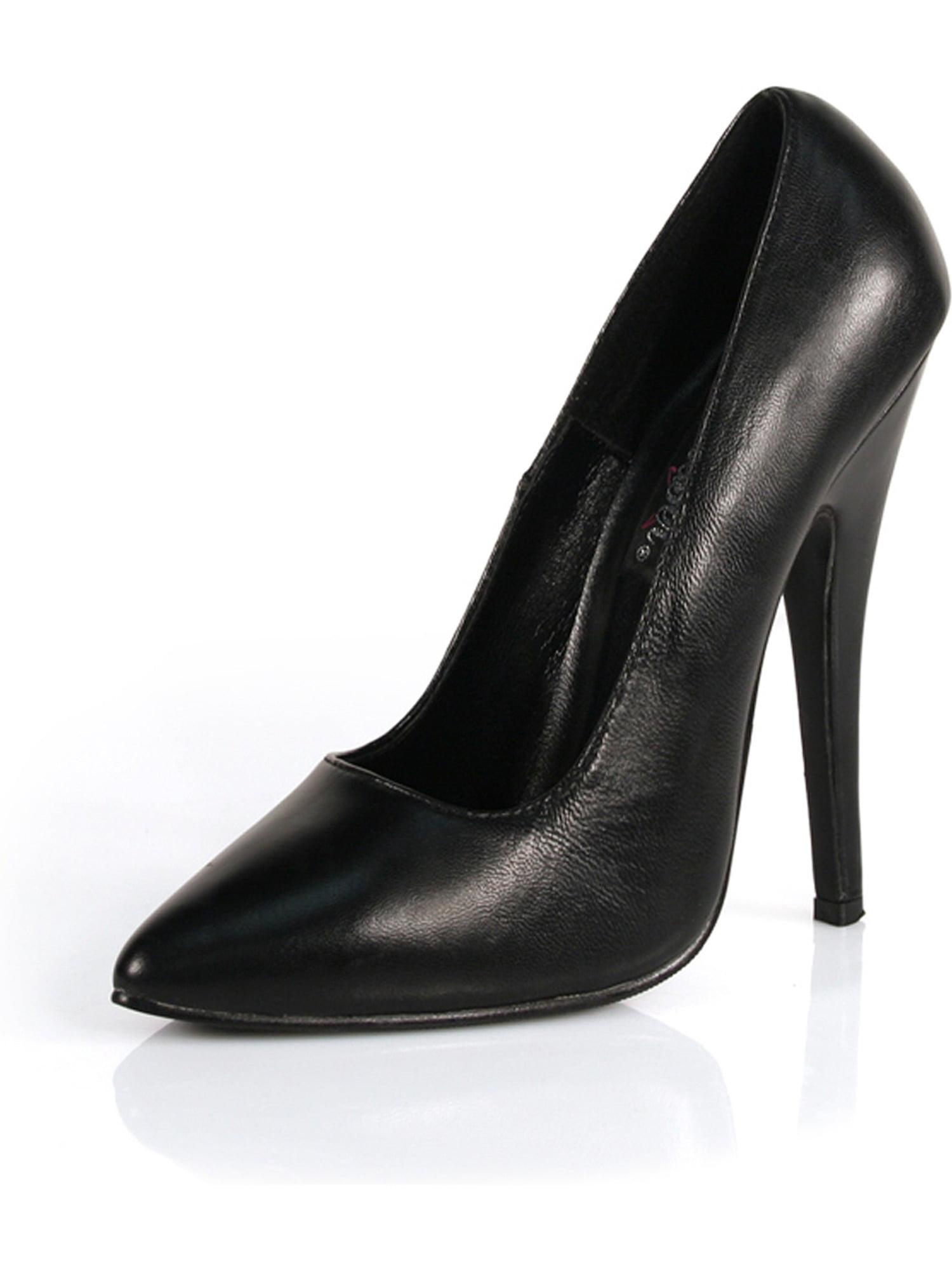 6 Inch Sexy High Heel Shoe Classic Pump Black Leather