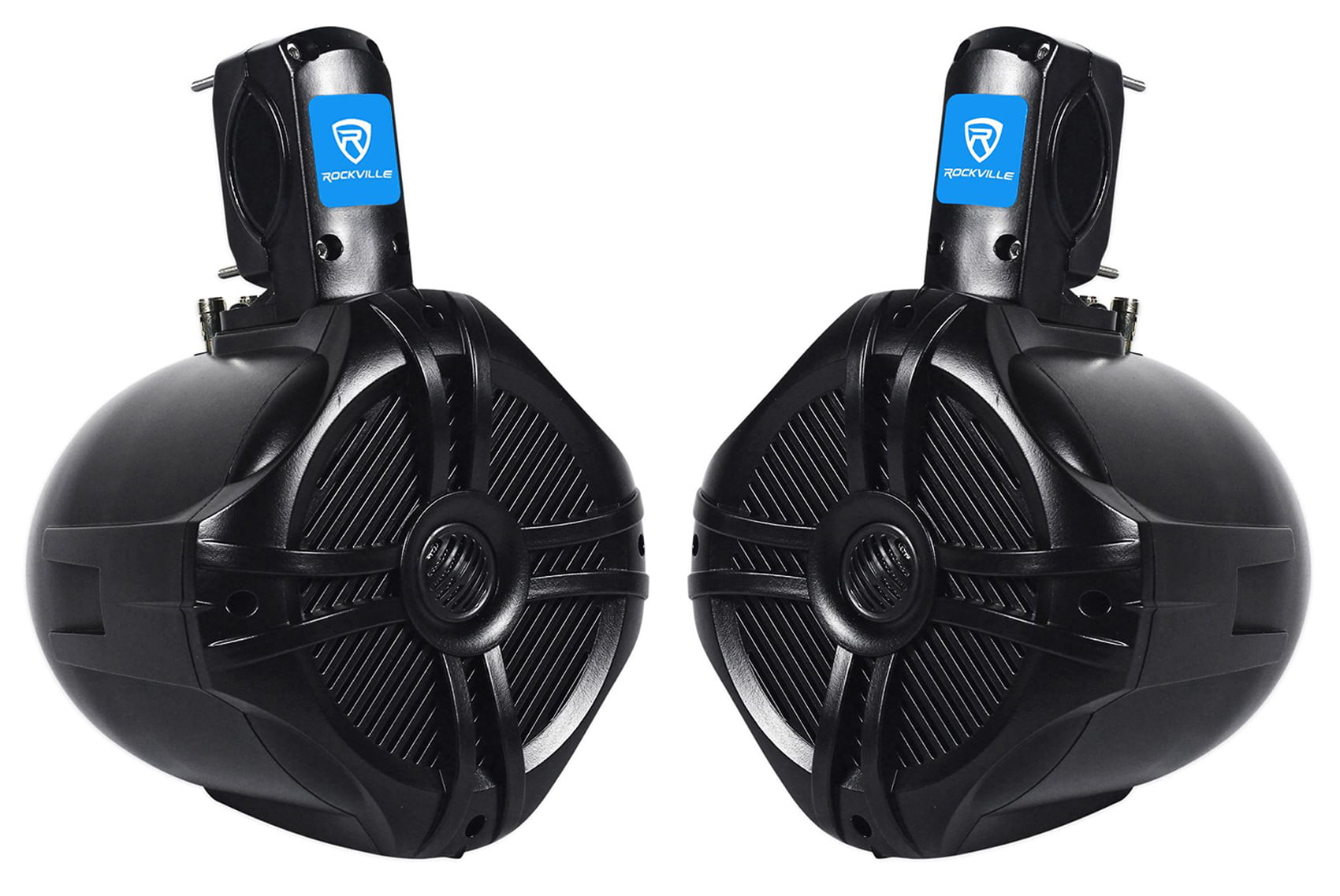 "Pair Rockville RWB65B 6.5"" Black 2 Way 250 Watt Marine Wakeboard Tower Speakers by ROCKVILLE"