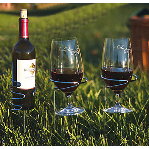 Wine Glass and Bottle Handy Holder Set