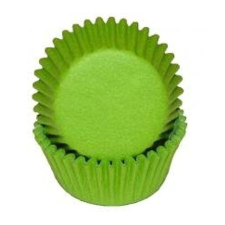 Lime Green Cupcake Baking Liners - 50 Count - National Cake Supply