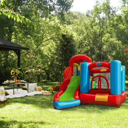 XtremepowerUS Outdoor Kids Inflatable Jumper Bouncer House Play Center w/ air Blower