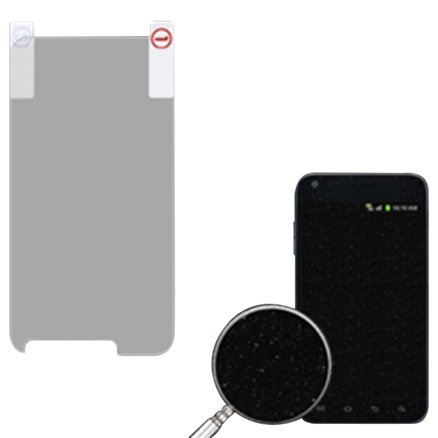 Insten Glitter LCD Screen Protector/Silver for SAMSUNG: D710 (Epic 4G Touch), R760 (Galaxy S II), Galaxy S II 4G