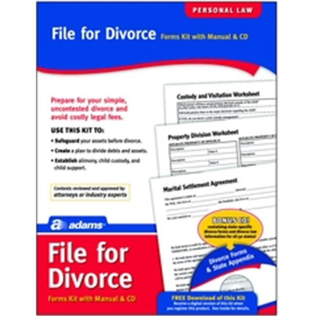 Adams K302 Divorce Kit, forms and instructions