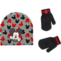 Mickey Infant Toddler Boy Hat and Mitten Set