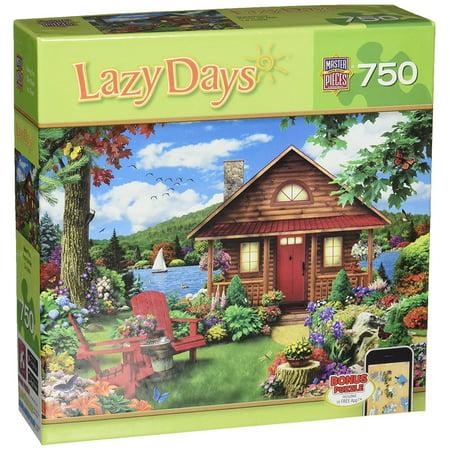 Lazy Days Waterfront Jigsaw Puzzle  Art By Alan Giana  750 Piece By Masterpieces