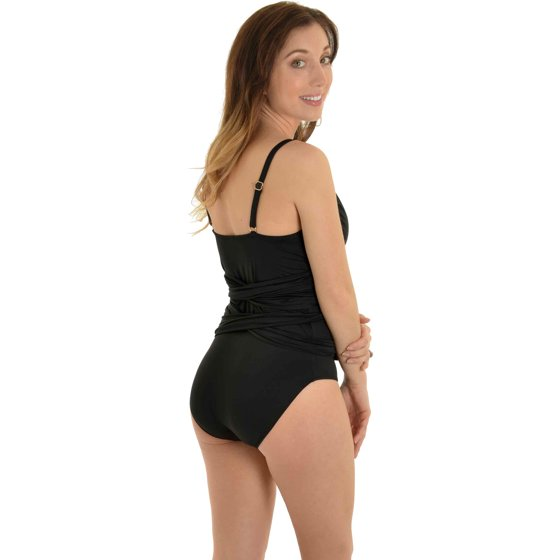43e0eaae24 Leilani - Leilani Women's Black Bathing Suit 1 Piece Wrap Around ...