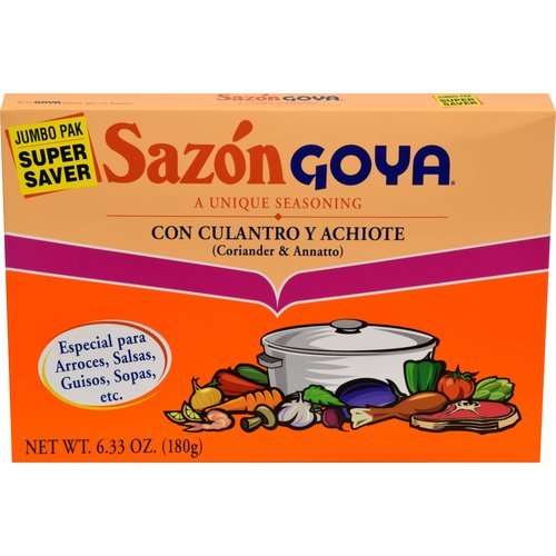 Sazon Goya Coriander & Annatto Seasoning, 6.33 oz
