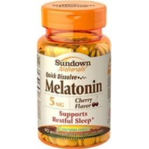 Sleep Aids: Sundown Naturals Quick Dissolve Melatonin