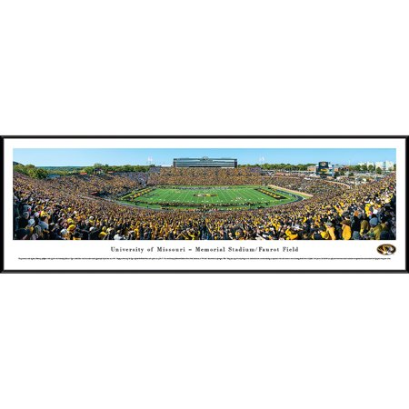 Missouri Tigers Football - 50 Yard Line at Memorial Stadium / Faurot Field - Blakeway Panoramas NCAA College Print with Standard (Best College Football Stadiums)