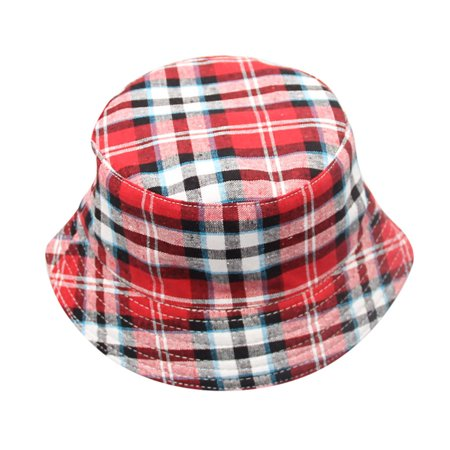 Outtop Toddler Baby Kids Boys Girls Plaid Pattern Bucket Hats Sun Helmet Cap](Dwarf Hat Pattern)