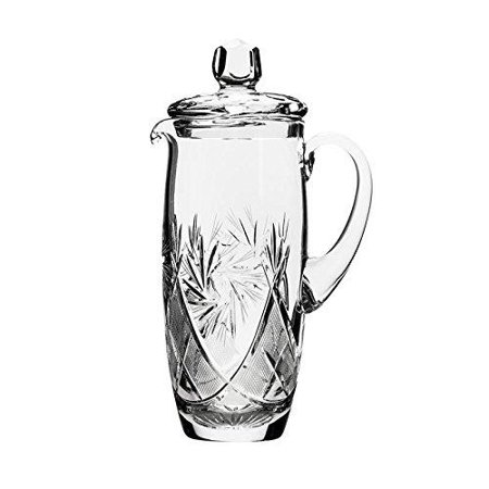 Neman, 33.8oz Hand Made Vintage Wine Carafe, Russian Crystal Beverage Pitcher