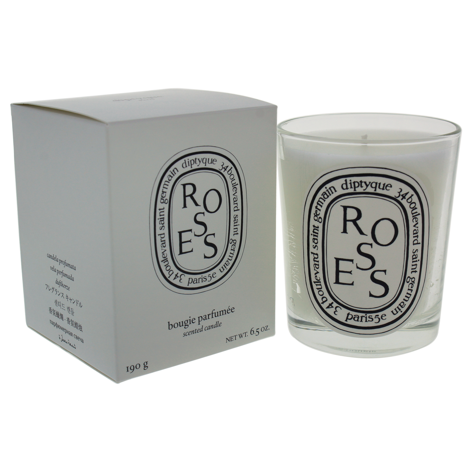 Roses Sce nted Candle by Diptyque for Unisex - 6.5 oz Candle