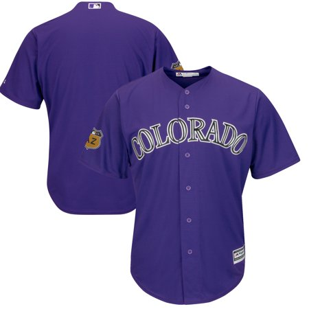 Colorado Rockies Majestic 2017 Spring Training Cool Base Team Jersey - Purple