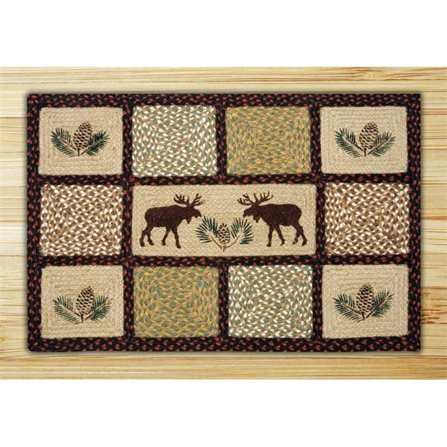 Capitol Importing 82-019MP Moose-Pinecone - 20 in. x 30 in. Rectangle Quilt Patch