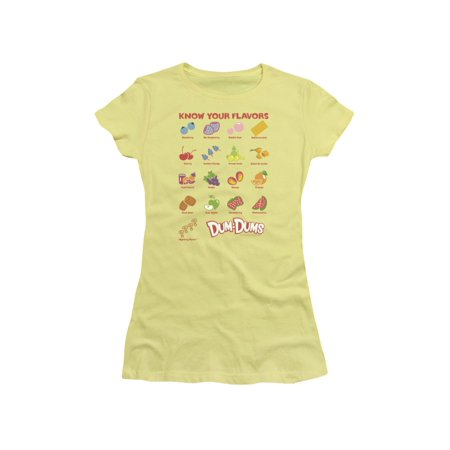 Dum Dums Candy Lollipop Flavors Juniors Sheer T-Shirt - Dum Dum Flavors