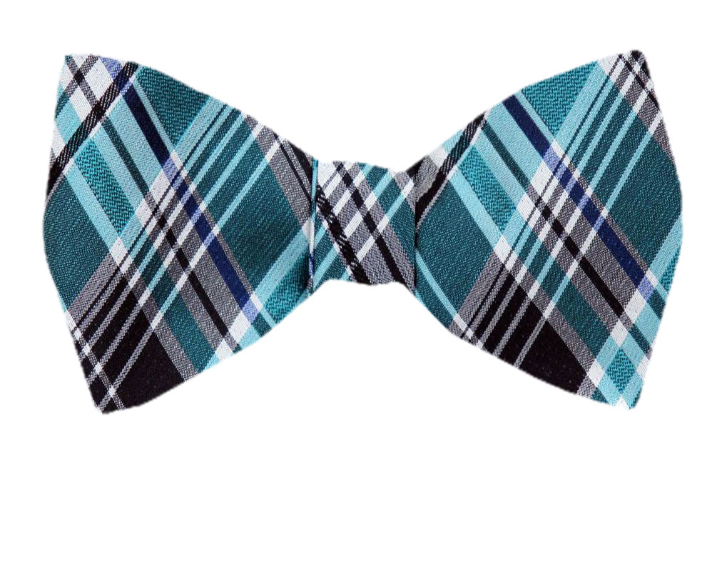Tie yourself Bow Ties Silk Mens Plaid Self tie Bowtie