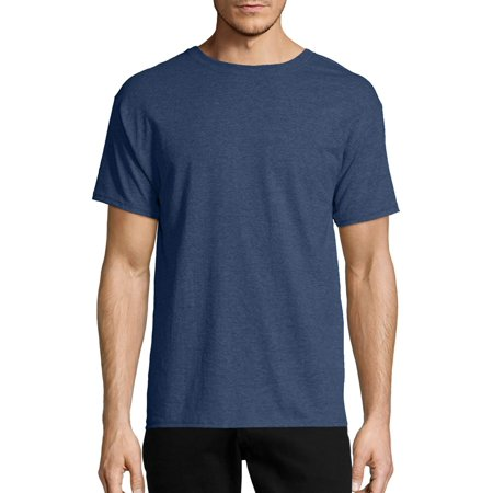 Hanes Men's ecosmart soft jersey fabric short sleeve t-shirt Cock Ash Grey T-shirt