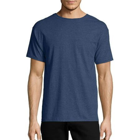 Neon Logo Heathered T-shirt - Men's EcoSmart Soft Jersey Fabric Short Sleeve T-shirt