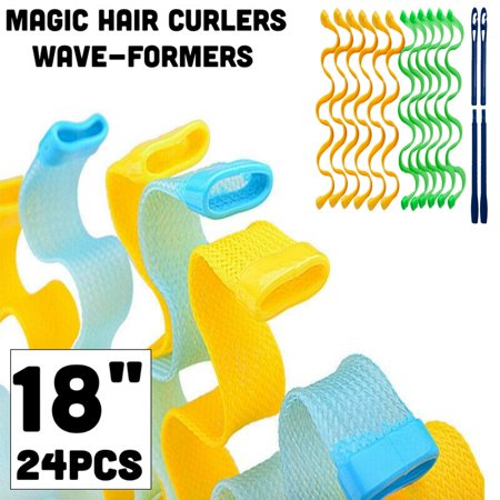 Magic Hair Curlers Wave-Formers 24 Pack (18