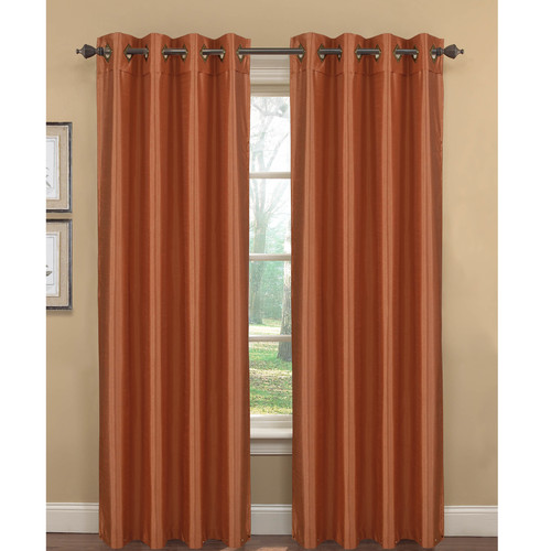 Kim Faux Silk Extra Wide Grommet Curtain Panel Pairs by YMF Carpets Inc.