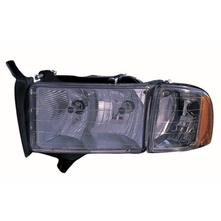 Go Parts 1999 2002 Dodge Ram 1500 Front Headlight Headlamp Embly Housing Lens Cover Left Driver Side 55077025ac Ch2502123 Replacement