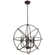 Mariana Home 522873 Lg Industrial Orb Pendant -Urban Bronze