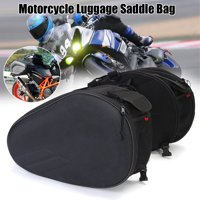 2Pcs Motorcycle Side Saddle Bag Oxford Cloth Panniers Package Luggage Waterproof Universal