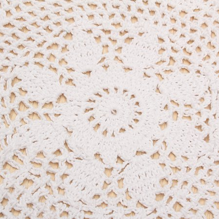 """Meigar 14.5""""  Sunflower Lace Floral Round Cream Hand Crochet Cup Mat Doilies Coasters Wedding Table Fabric Cloth Doily Placemats  - image 6 of 7"""
