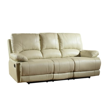 Fine Global Furniture 9345 Contemporary Beige Leather Air Match Recliner Sofa Theyellowbook Wood Chair Design Ideas Theyellowbookinfo