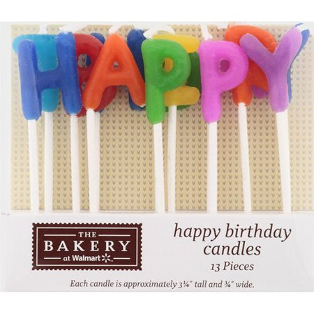 Bakery Crafts Happy Birthday Candle