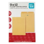 Pen+Gear Clasp Envelopes, 9 x 12 , 24 lb. Brown Kraft , 25 CT (60790)