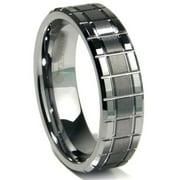Titanium Kay Tungsten Carbide Matrix Comfort Fit Mens Wedding Band Ring Sz 10.0