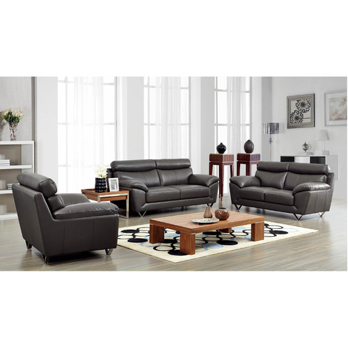 Gentil Brady Furniture Industries Noci Leather Configurable Living Room Set